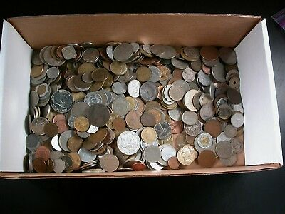 5 Pounds Mixed Foreign Coins including some from the 1800's