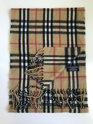 Vintage Authentic Burberry 100% Lambswool Scarf