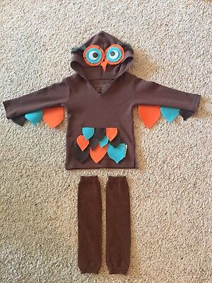 Unisex Hoot Owl Halloween Costume Size  12-18 Months With Leg Warmers