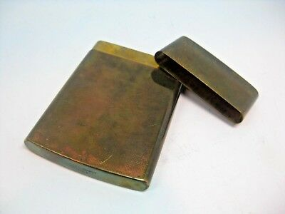 Vintage CHAS T. KENNEDY Brass No. 9 Cigarette Match Holder Carrying Case Japan
