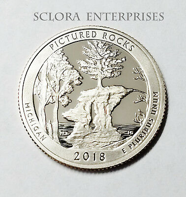 2018 S Pictured Rocks  *90% Silver Proof*  Atb Quarter   **free Shipping**
