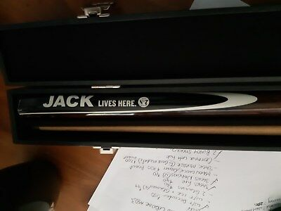 jack daniels jack lives here pool cue in case