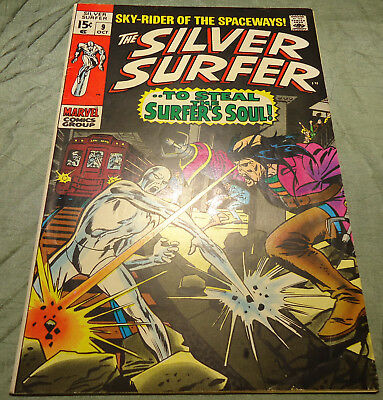 The Silver Surfer # 9 (Marvel October 1969) Silver Age (See Scans / Pics)