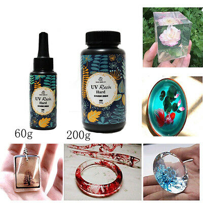 60/200g DIY UV Ultraviolet Resin Curing Solar Cure Sunlight Activated Hard  WW