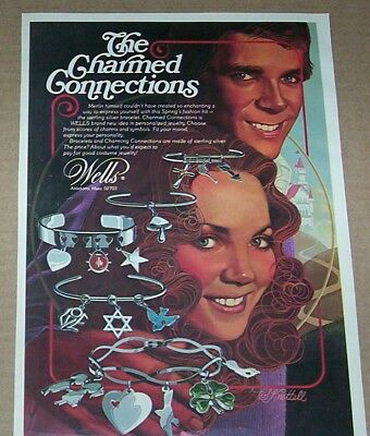 1975 print ad page - Wells jewelry Charms charm bracelet Vintage Advertising