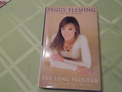 PEGGY FLEMING signed autographed hardcover book THE LONG PROGRAM Olympics