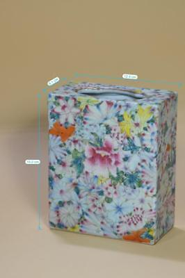 Rectangle Chinese Famille Rose Porcelain Flower Box.