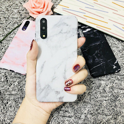 Cute Stylish Granite Marble Stone Effect Full Hard Case For Huawei P20 Pro/Lite
