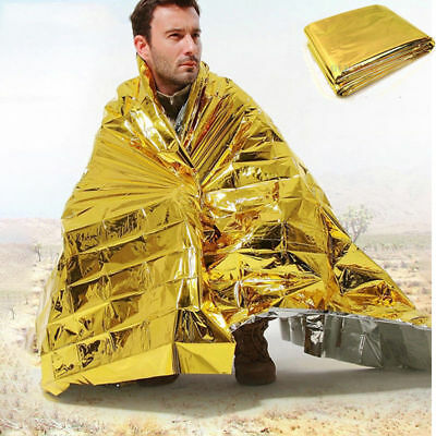Outdoor Emergency Solar Blanket Survival Safety Mylar Thermal Heat