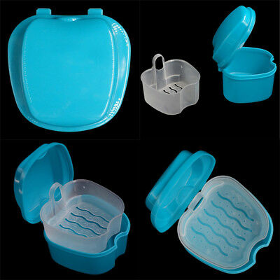 USA Dental Orthodontic Retainer Denture Storage Case Box Container Cleaner Box Z