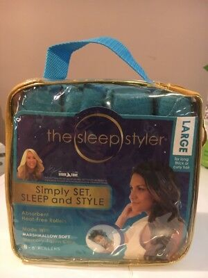 The Sleep Styler Heat Free Curlers, Includes 8 Large 6 Inch Rollers SHIPS FREE!!