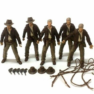 "5pcs INDIANA JONES RAIDERS OF LOST ARK 4"" JOINTED ACTION FIGURE"