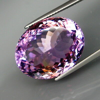 23.26Ct.Real! 100%Natural HUGE Purple&Golden Bolivia Ametrine Full Sparkling!