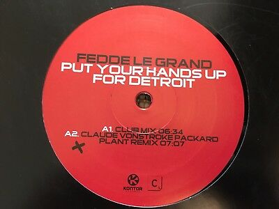 "Fedde Le Grand - Put Your Hands Up For Detroit 12"" Vinyl Kontor Rec. 2006"