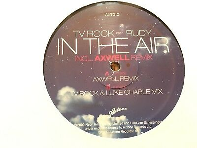 "TV Rock Feat. Rudy - In The Air Inkl. Axwell Remix 12"" Vinyl 2009 Neon Rec."