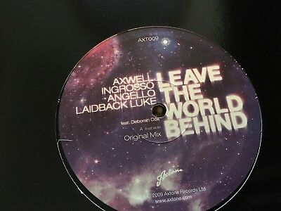 "Axwell Ingrosso Angello Laidback Luke - Leave The World Behind 12"" Vinyl 2009"