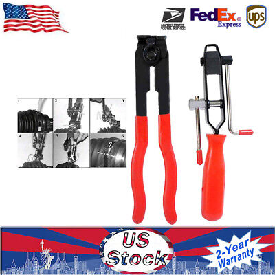2 pcs CV Clamp and Joint Boot Clamp Pliers Tool Set Ear Type Boot Clamp Pliers