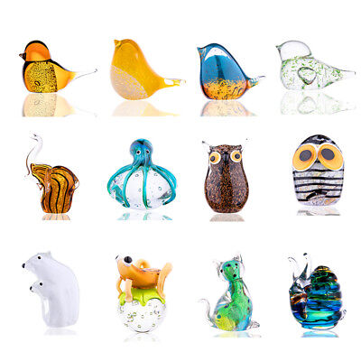 Handmade Animals Design Liu Li Glass Blown Art Craft Paperweight Home Decor Gift