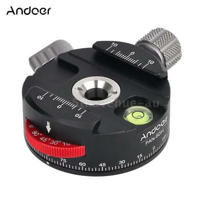 Andoer PAN-60H Panoramic Ball Head Tripod Head w/Indexing Rotator+AS Type Clamp