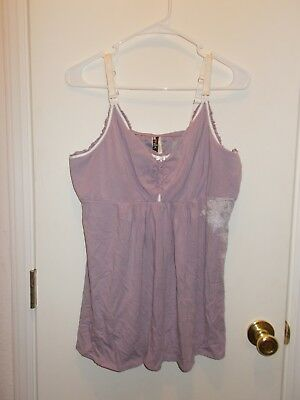 Hot Milk Nursing Tank XXL Purple Beautiful