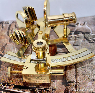 Antique-Reproduction-Brass-Marine-Sextant--Nautical-Decor-Collection