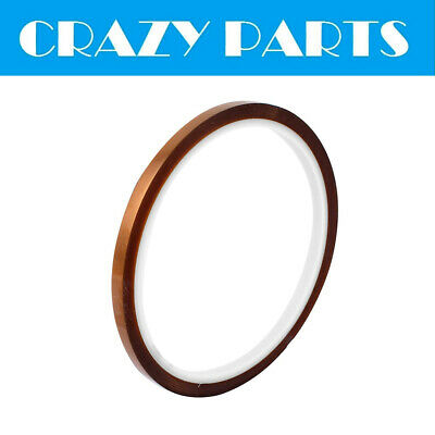5MM x 33M High Temperature Heat Resistant Kapton Tape Adhesive Polyimide Film
