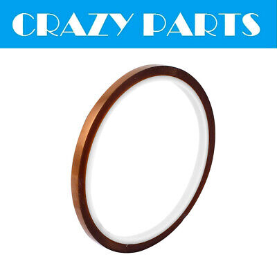 8MM x 33M High Temperature Heat Resistant Kapton Tape Adhesive Polyimide Film