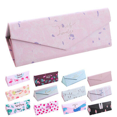 lovely pu fold up sunglasses case protable light triangular fold up glasses ca I