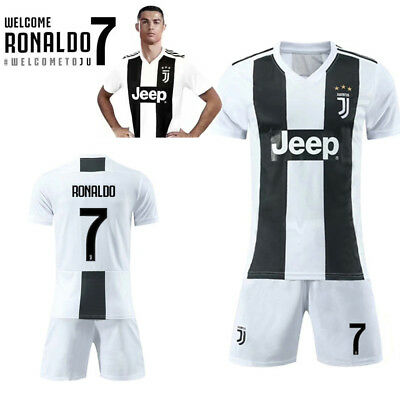 18-19 Juventus Home Cristiano Ronaldo White Soccer Shirt CR7 Football Jersey AU