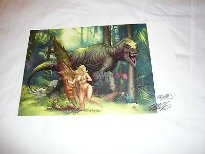 2018 Sdcc Shanna Color Art Print By Frank Cho Signed 11X17
