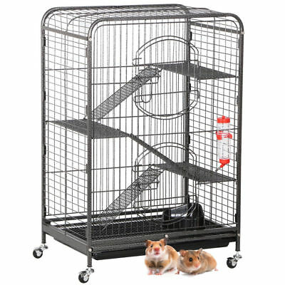 Pet Rodent Cage for Rat Ferret Chinchilla Hamsters or Other Small Pets 4 Level