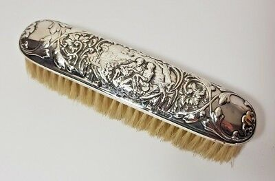 ANTIQUE STERLING SILVER CLOTHES BRUSH - James Deakin & Sons CHESTER 1903