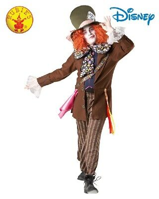 Mens Alice in Wonderland Licensed Mad Hatter Deluxe Costume