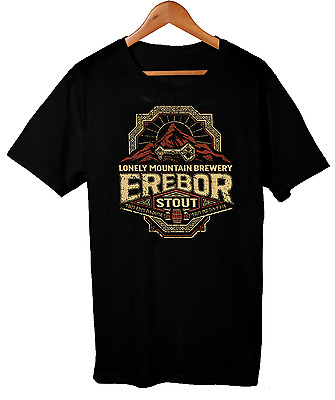 Lord Of The Rings Erebor Stout Drinking T-Shirt Men's Comedy T-Shirt