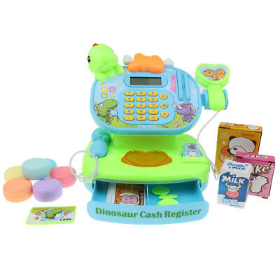 Pretend Play Supermarket Cashier Scanner Cash Register & Play Food Props Toy