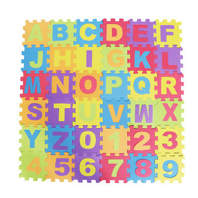 36xSafty Foam Numbers+Letters Play Mat Foam Puzzle Floor Kid Crawling Carpet