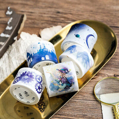 DIY Little Witch Series Washi Masking Tape Paper Sticker Decorative Scrapbook