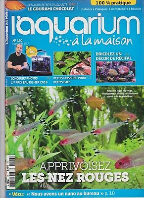 magazine L'AQUARIUM A LA MAISON N°120 mars avril 2017 Aquariophilie poisson