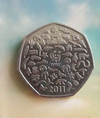 Wwf 50p Coin Panda Animals