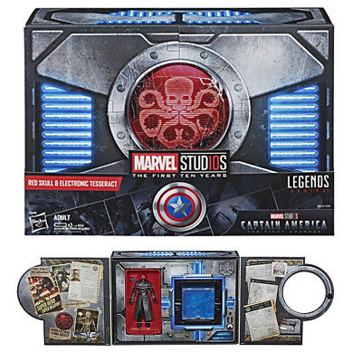 (In Hand) Marvel Legends 10th Red Skull & Electronic Tesseract SDCC 2018 NEW UK