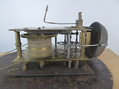 Antique 8 day longcase clock movement  pointers  pulleys & dial