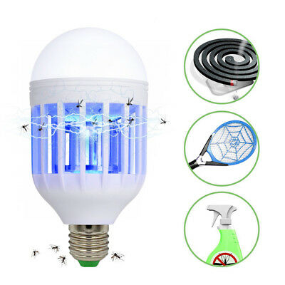 Bug Zapper Outdoor Indoor Light Bulb Insect Mosquito Killer Electric Lamp KU