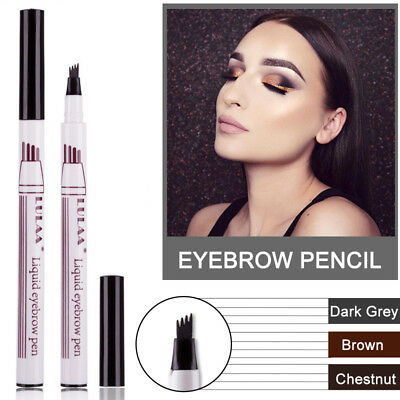 Microblading Tattoo Eyebrow Ink Pen Fork Tip Sketch Enhancer Waterproof Eye Brow