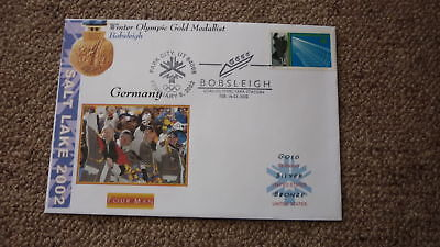 2002 Winter Olympic Gold Medal Win Cover, Germany Mens Bobsleigh Team