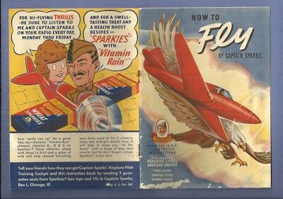 1941 CAPTAIN SPARKS & LITTLE ORPHAN ANNIE How To Fly Quaker Rice Cereal Premium