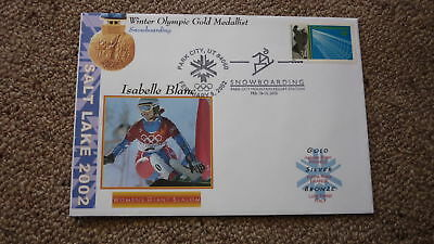 2002 Winter Olympic Gold Medal Win Cover, Isabelle Blanc France Snowboarding