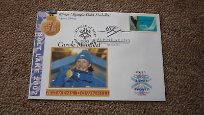 2002 Winter Olympic Gold Medal Win Cover, Carole Montillet France Skiing