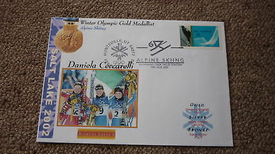 2002 Winter Olympic Gold Medal Win Cover, Daniela Ceccarelli Italy Skiing