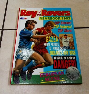 Roy Of The Rovers Yearbook 1992 Annual Football Soccer Gazza Fleetway