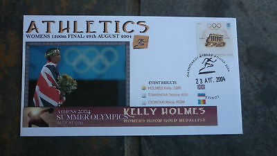 2004 Kellie Holmes Athens Olympic Gold Medal Win Souvenir Cover 2
